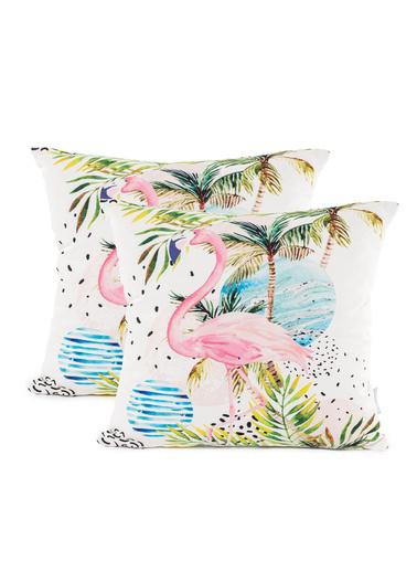 Firuze Home&Bath 2'li Kırlent Coral Dream Renkli